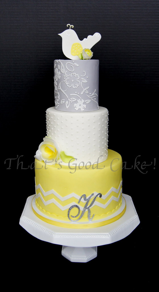 Yellow Gray White Baby Shower Cake Cakes Torted With Butte Flickr