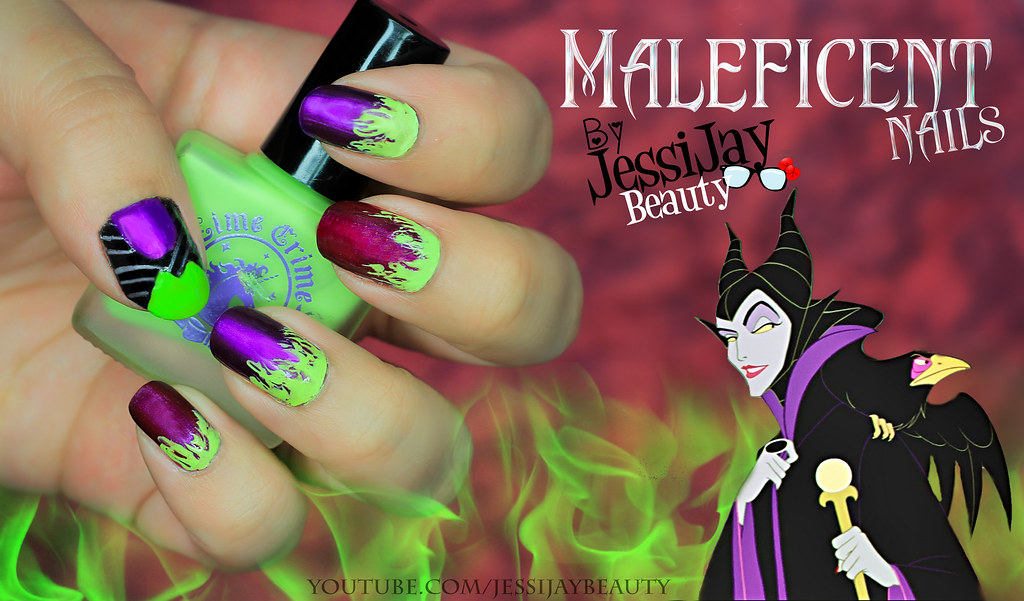 Maleficent Nails I Am So Proud Of These Nails Can T Wait T
