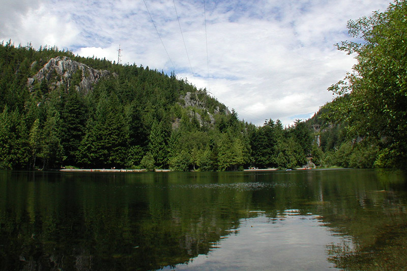 Browning Lake in Murrin Park, Britannia Beach, Sea to Sky Highway, British Columbia, Canada