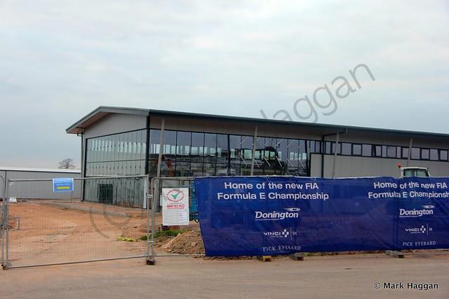 Formula E buildings under construction at Donington Park