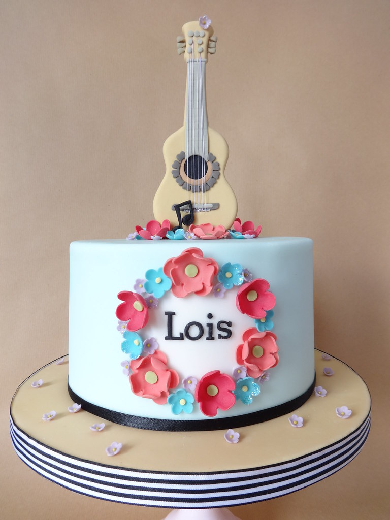 Acoustic Guitar Cake For Lois S 10th Birthday I Made