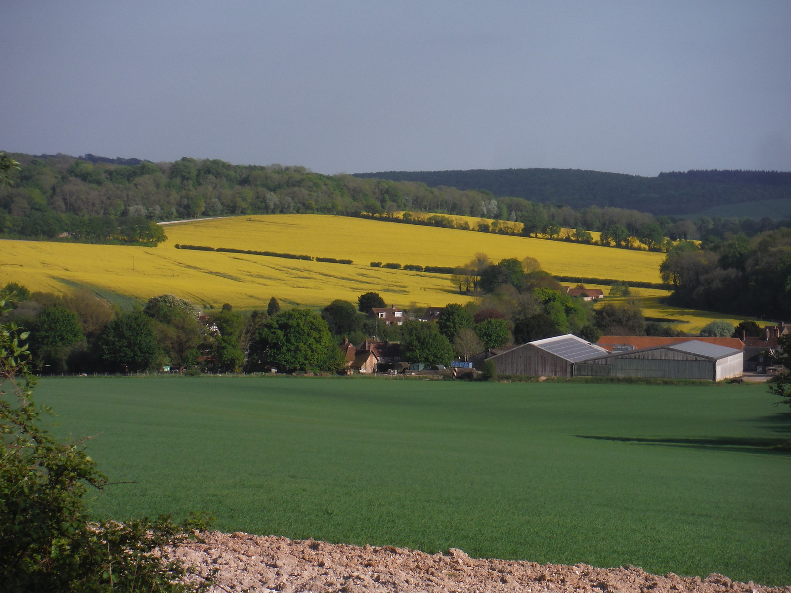 Southerly views from near West Hanger Wood SWC Walk Rowlands Castle Circular