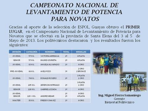 CAMP   NACIONAL DE LEVANTAMIENTO DE POTENCIA PARA NOVATOS