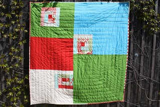 Back of the log house quilt