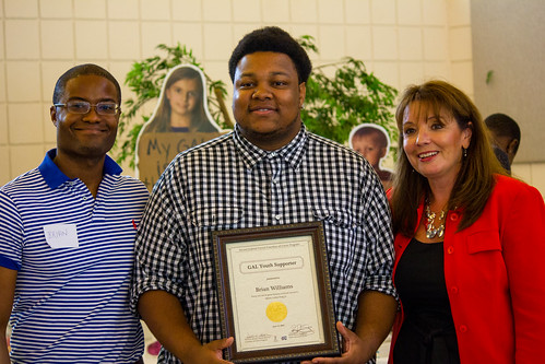 CAII Board President Brian Sealey, youth supporter Brian Williams and Circuit Director Deborah Moore during the awards ceremony at Guardian ad Litem Appreciation Day on June 15, 2013 in Tallahassee, Florida. | by flguardian2