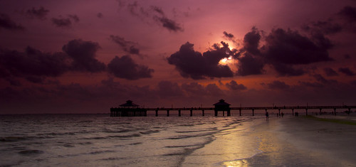 sunset beach by pier florida fort myers
