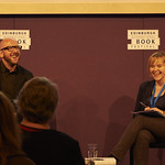 S J Watson chats to Chair Serena Field | Master of the thriller S J Watson chats to Chair Serena Field at the Book Festival © Helen Jones