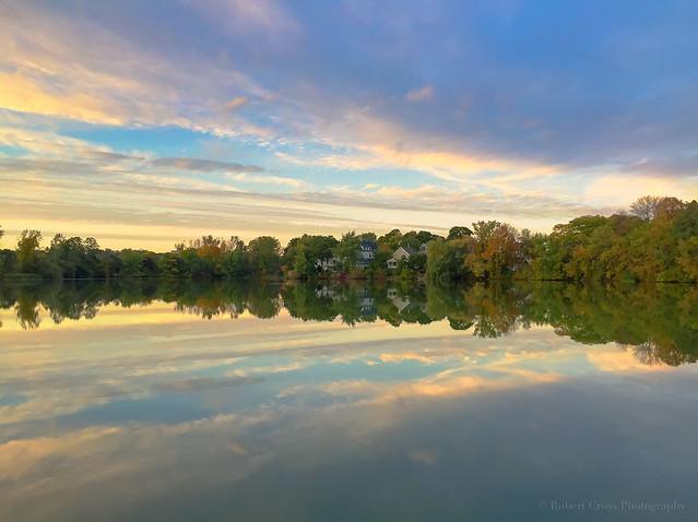 Ell Pond Autumn iPhone Sunset