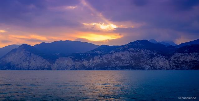 Sunset at Lago di Garda