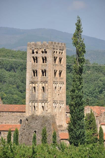 Codalet. St. Miquel de Cuixà Abbey. Bell tower. 11th C.