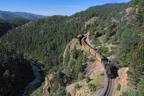 railroad cliff train colorado co mikado locomotive highline narrowgauge rockwood steamlocomotive passengertrain 282 animasriver dsng touristtrain durangoandsilvertonnarrowgaugerailroad 3footgauge trainno461
