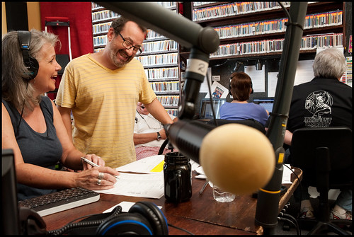 Sally Young and Ron Phillips at WWOZ Fall Pledge Drive 2015 day 3. Photo by Ryan Hodgson-Rigsbee - www.rhrphoto.com