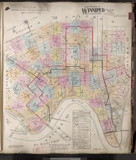 Insurance plan, volume 1, Key Plan, Winnipeg, Manitoba, August 1906, revised May 1914 / Plan d'assurance-incendie, volume 1 : plan directeur, Winnipeg (Manitoba), août 1906, révisé en mai 1914