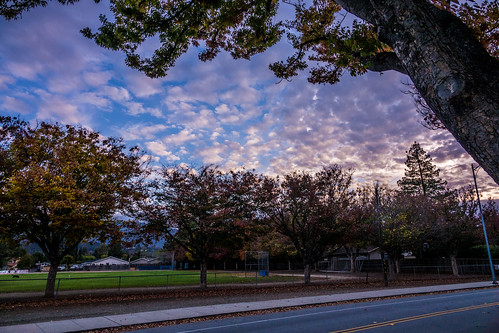 ca california nature sanjose sky outdoor evening trees clouds unitedstates us