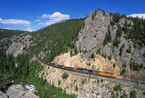 unionpacific up coaltrain dpus dpu ge ac4400cw tunnel27 tunnel pinecliffe cliff colorado train railroad locomotive co