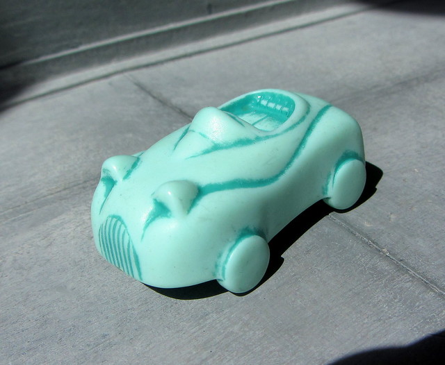 A Small Plastic Toy Car That Plays A Trick And Reveals A Human Face When Shown From Above Made By Kinder Eggs - 10 Of 10