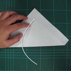 วิธีพับกระดาษเป็นรูปปลาแซลม่อน (Origami Salmon) 009