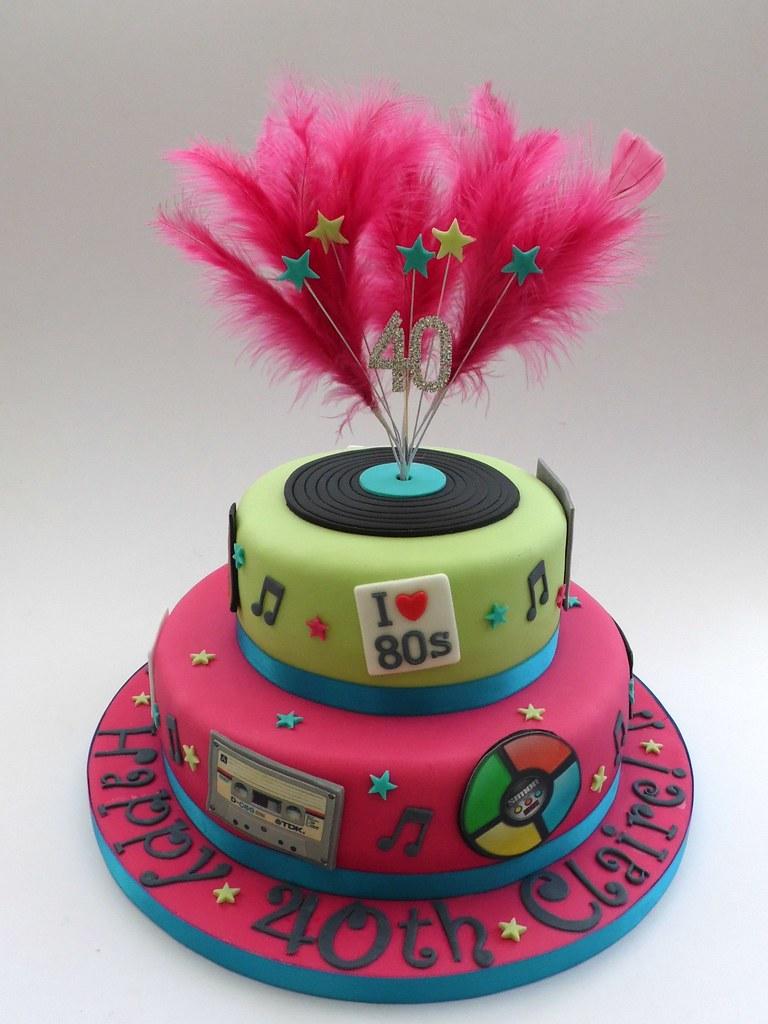 80s Themed 40th Birthday Cake