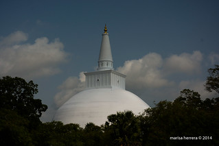 Sri Lanka. Anuradhapura. Ruvanvelisaya Dagoba.