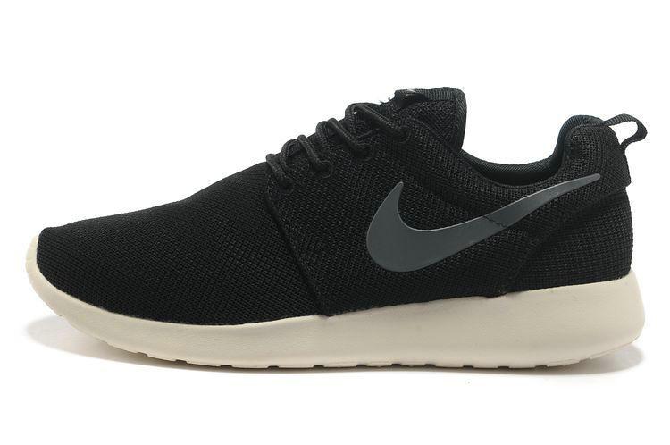 meilleur service 16d95 a9838 chaussures nike roshe run id femme noir blanc gris logo ww ...