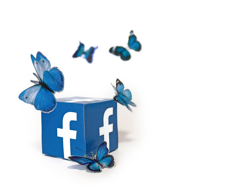 Social Media Butterfly - Facebook | All content posted in th… | Flickr