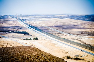 View of the Sinai overlooking Egypt from Mitzpe Bar-Lev and the Security fence in Southern Israel. | by Facts for a Better Future