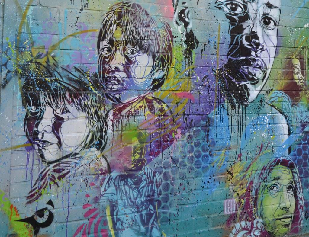 Mur D Usine Fresque Murale Détail Street Art C215 Flickr