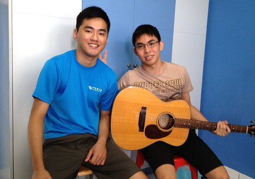 1 to 1 guitar lessons Singapore Chin Yong