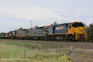 XR555, G526, G528 & XR558 heading west through Duverney. | by Australian Trains