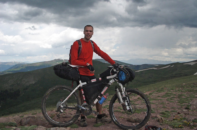 Dave and his Rockhopper on the Colorado Trail