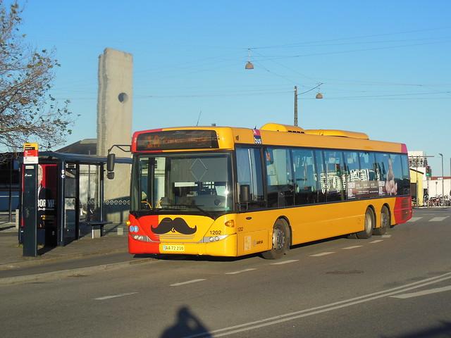 ARRIVA Movember support Scania 1202 AA72236 24.11.2013