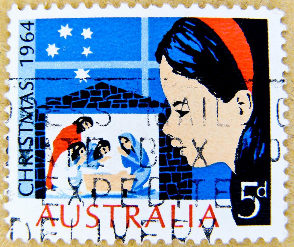 Top Ten Weihnachtsessen.Great Xmas Stamp Australia Christmas Postage 5d Briefmarke Flickr