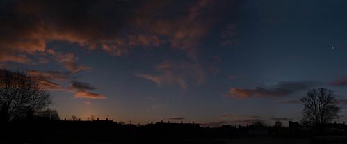 uk winter sunrise shropshire marketdrayton