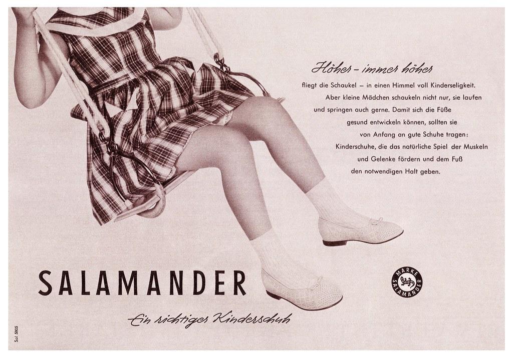 the latest ccee4 5f13b Salamander (1958) Ein richtiger Kinderschuh   Höher – immer ...