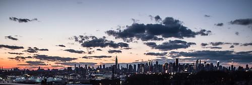 city nyc newyorkcity sunset sky ny newyork skyline cityscape unitedstates manhattan places landmark motorcycle