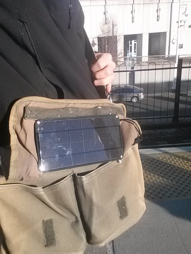 Solar Messenger Bag, deployed! | by kevinsprojects