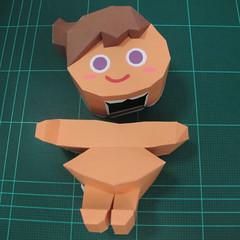 วิธีทำโมเดลกระดาษตุ้กตา คุกกี้สาวผู้ร่าเริง จากเกมส์คุกกี้รัน (LINE Cookie Run – Bright Cookie Papercraft Model) 020