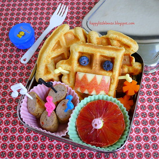 Waffle Domo Breakfast for Lunch EcoLunchBox Bento | by sherimiya ♥