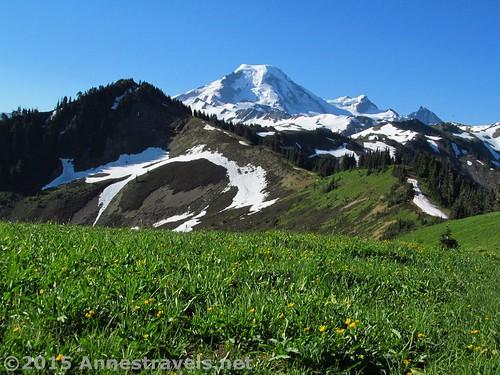 At the top of Skyline Divide, Mount Baker Wilderness, Washington