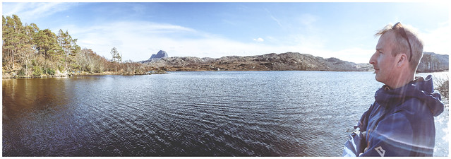 Alan, Suilven & Glencanisp  iPhone Panorama