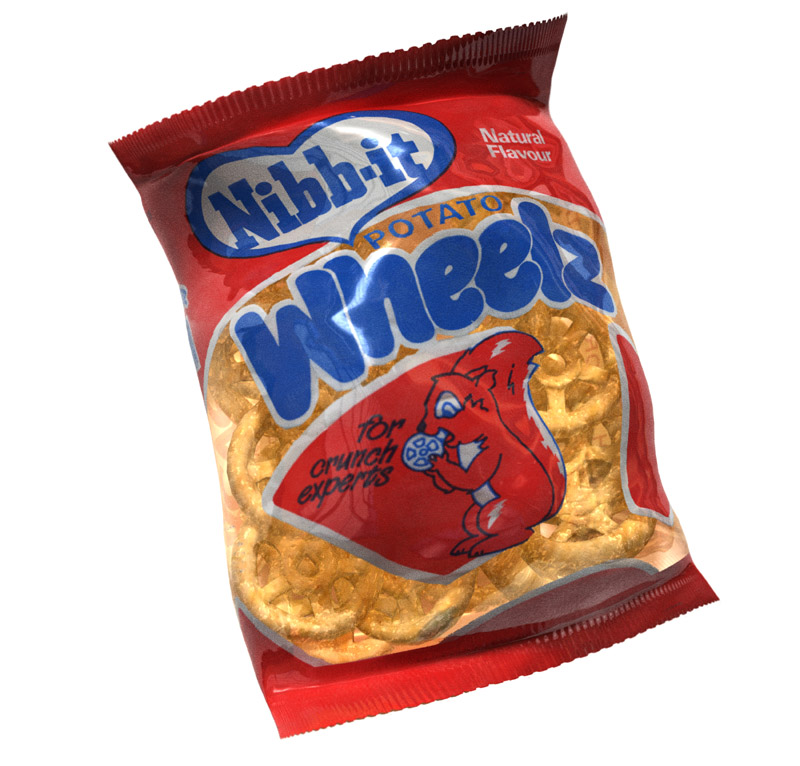 The Great British Tuck Shop Nibb-It Wheelz (2012) | Phil Norman - 3D