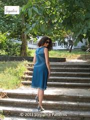 Nougat dress, view A