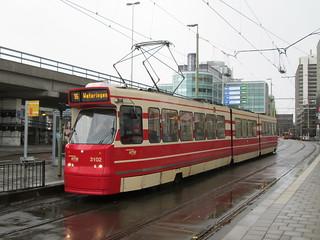 HTM GTL8 tram no. 3102, near Den Haag CS | by bindonlane