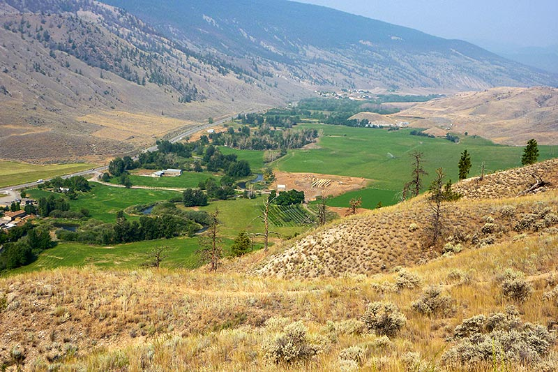 Farmlands in Cache Creek, Thompson Okanagan, British Columbia, Canada