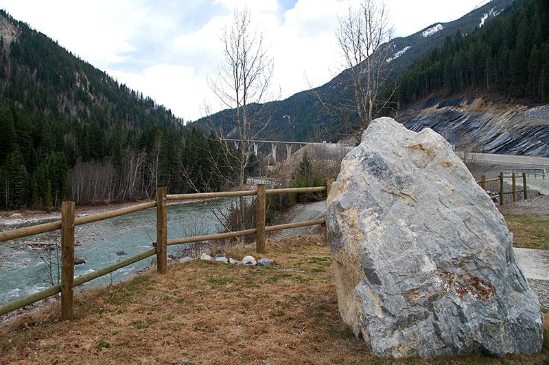 Kicking Horse River Rest Area near Golden, BC Rockies, Kootenay Rockies, British Columbia, Canada