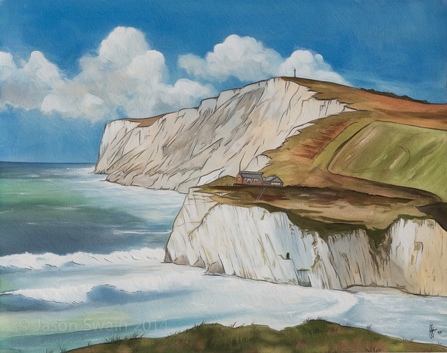 Freshwater Bay Watercolour Landscape