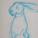 """Hare Man!?"". Pastel sobre papel/Pastel on paper, 2002."