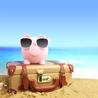 Piggy bank travel (stock) | by Traveloscopy