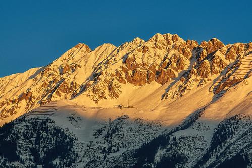 mountain alps berg landscape tirol österreich paisaje alpen montaña sonnenaufgang innsbruck fujitsu nordkette aut hafelekar seegrube