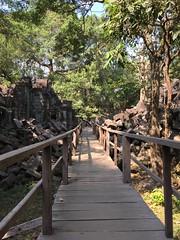Wooden walkway at Beng Mealea